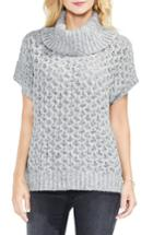 Women's Two By Vince Camuto Honeycomb Funnel Neck Sweater - Grey