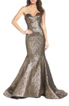 Women's Mac Duggal Lame Mermaid Gown - Metallic