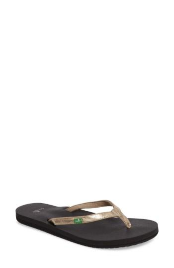 Women's Sanuk 'yoga Joy' Metallic Flip Flop