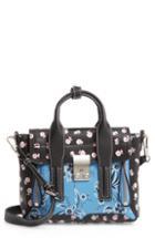 3.1 Phillip Lim Mini Pashli Floral Leather Satchel -