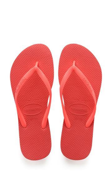Women's Havaianas 'slim' Flip Flop /36 Br - Coral