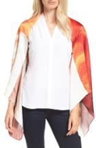 Women's Ted Baker London Pamm Playful Poppy Silk Cape Scarf