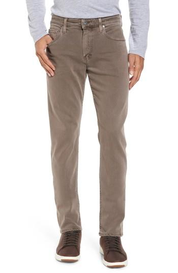 Men's Paige Transcend - Federal Slim Straight Fit Jeans - Brown