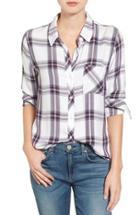 Women's Rails Hunter Plaid Shirt - White