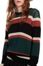 Women's Scotch & Soda Stripe Crewneck Sweater - Red