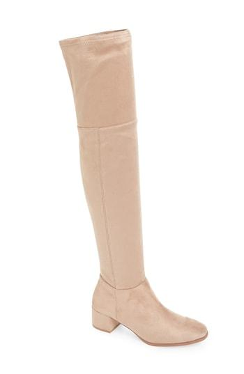 Women's Chinese Laundry Felix Over The Knee Boot M - Beige