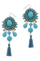 Women's Nakamol Design Howlite Tassel Earrings