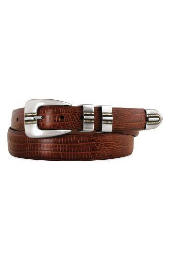 Men's Johnston & Murphy Leather Belt - Cognac