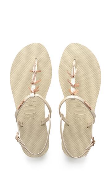 Women's Havaianas You Riviera Embellished Sandal /40 Br - Beige
