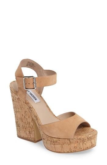 Women's Steve Madden Leighton Sandal .5 M - Brown