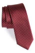 Men's The Tie Bar Mini Dots Silk Tie, Size - Red
