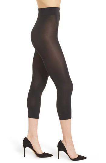 Women's Wolford Velvet 66 Capri Pants - Black