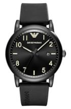 Men's Emporio Armani Rubber Strap Watch, 43mm