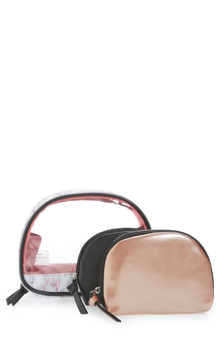 Violet Ray New York 3-piece Cosmetics Pouches