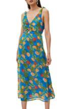 Women's Topshop Citrus Tie Shoulder Midi Sundress Us (fits Like 0) - Blue