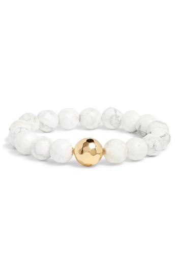 Women's Gorjana Power Gemstone Howlite For Calming Bracelet