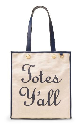 Draper James Totes Y'all Canvas Tote - Beige