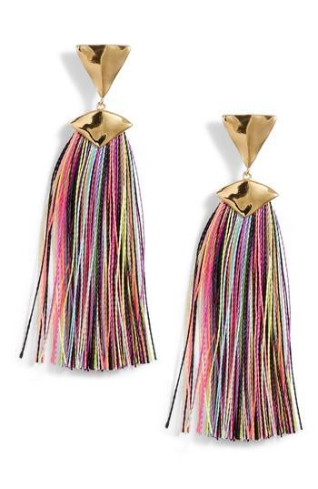 Women's Gorjana Havana Triangle Tassel Earrings