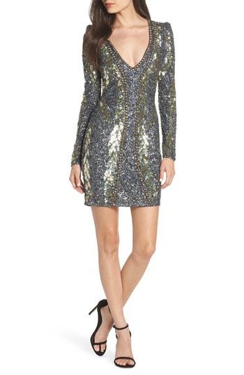Women's Mac Duggal Embellished Minidress