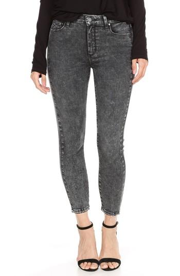 Women's Paige Hoxton High Waist Crop Skinny Jeans - Grey
