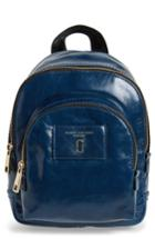 Marc Jacobs Mini Double Pack Faux Leather Backpack - Blue