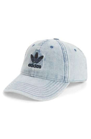 Men's Adidas Originals Denim Baseball Cap - Blue