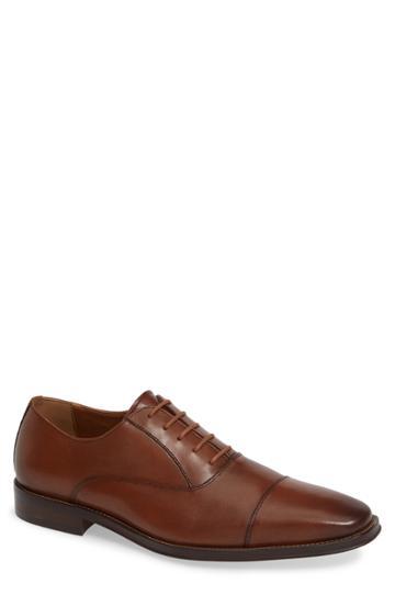 Men's Nordstrom Men's Shop Bryan Cap Toe Oxford .5 M - Brown