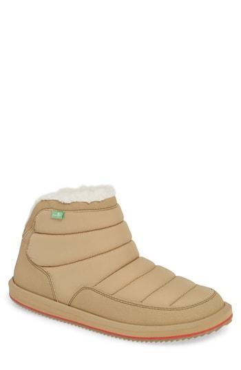 Men's Sanuk Puff & Chill Weather Boot M - Beige