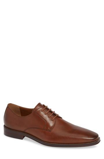 Men's Nordstrom Men's Shop Vincent Plain Toe Derby M - Brown