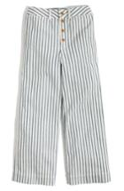 Women's Madewell Emmett Stripe Crop Wide Leg Pants - Blue