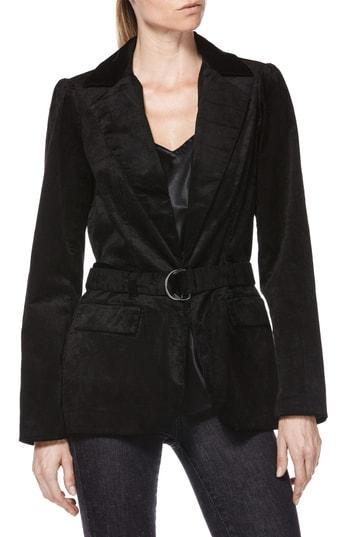 Women's Paige Sorrenti Stretch Velvet Corduroy Jacket - Black