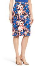 Women's Halogen Floral Print Pencil Skirt - Coral