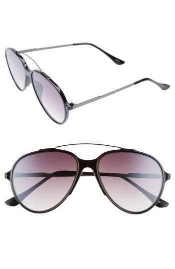 Women's Bp. 57mm Aviator Sunglasses - Black