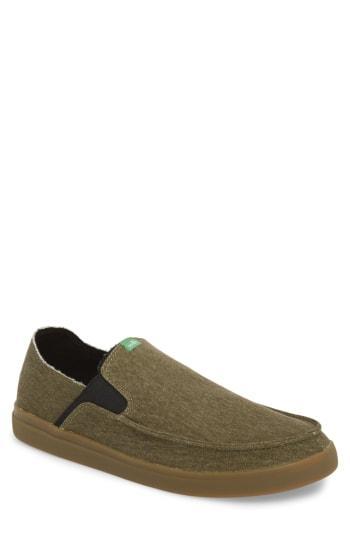 Men's Sanuk Pickpocket Slip-on Sneaker M - Green
