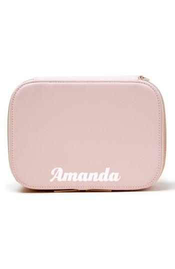 Pop & Suki Bigger Personalized Makeup Case, Size - Cotton Candy