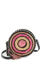 Rebecca Minkoff Straw Circle Crossbody Bag - Pink