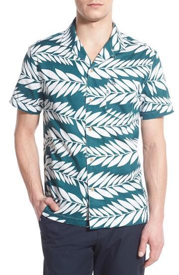 Men's Original Penguin 'dobby Cabana' Trim Fit Woven Shirt
