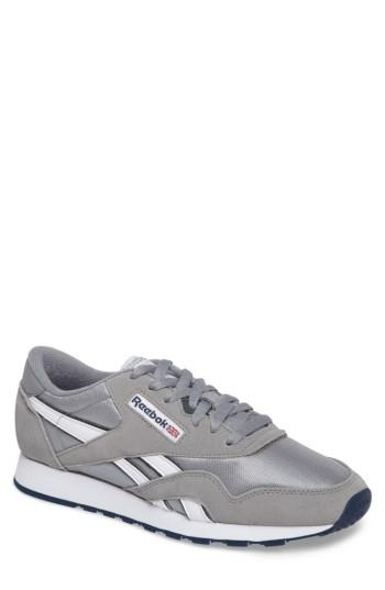 Men's Reebok Classic Nylon Sneaker M - Grey