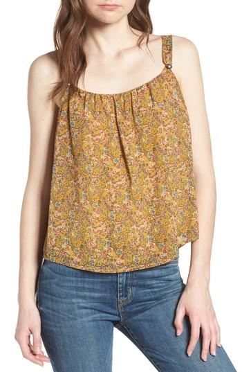 Women's Rebecca Minkoff Madison Floral Top, Size - Yellow