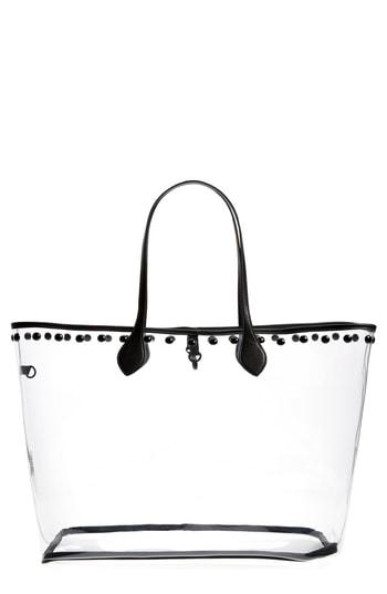 Steve Madden Transparent Tote - White