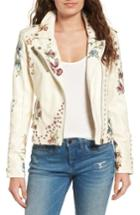 Women's Blanknyc Embroidered Moto Jacket