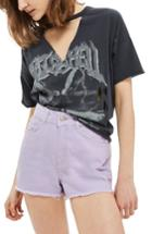 Women's Topshop Cutoff Denim Shorts Us (fits Like 0) - Purple