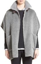 Women's Fabiana Filippi Textured Alpaca & Wool Cape, Size - Grey