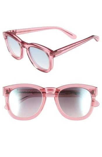 Women's Wildfox 'classic Fox - Deluxe' 52mm Sunglasses - Wildflower/blue Mirror