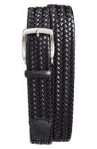 Men's Torino Belts Woven Leather Belt - Black