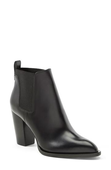 Women's Vince 'edith' Pointy Toe Leather Chelsea Bootie,