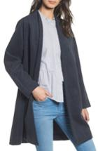 Women's Madewell Stanza Herringbone Coat - Blue