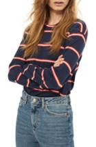 Women's Topshop Stripe Tee Us (fits Like 0) - Blue