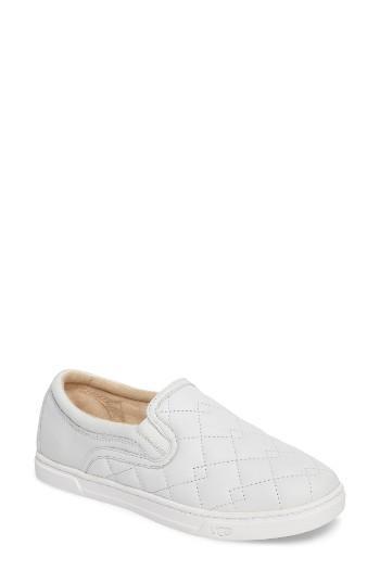 Women's Ugg Fierce Deco Quilted Slip-on Sneaker M - White