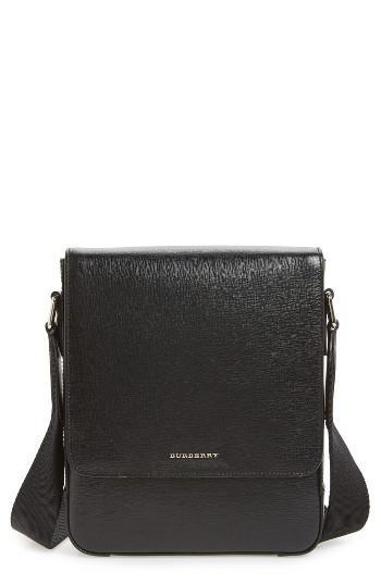 Men's Burberry Greenford Crossbody Bag - Black